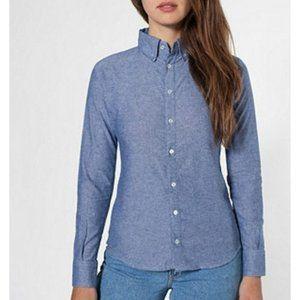 American Apparel Unisex Chambray Button Down Shirt